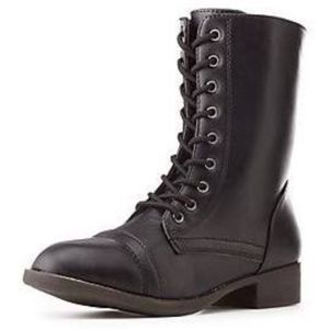 Combat boots **only worn once**